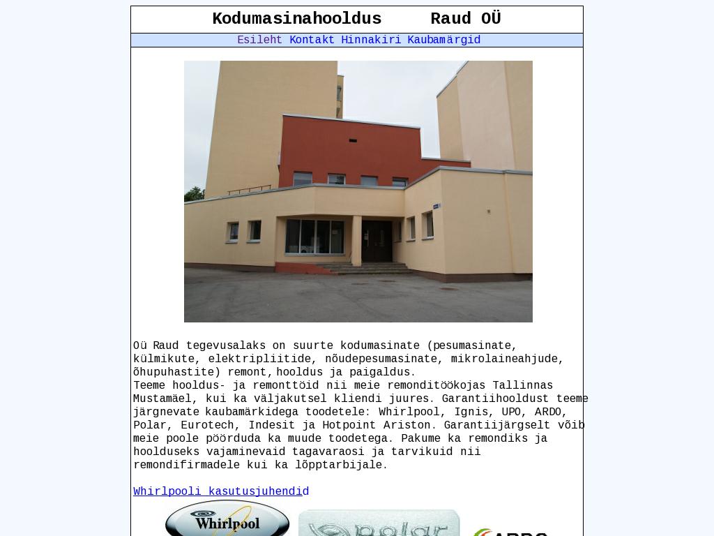 91b1382db3d Kaubad ja teenused: Elektripliidid, Kodumasinate garantiiremont, Kodumasinate  hooldus ...
